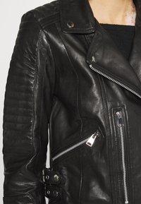 Vero Moda - VMALICIA  - Giacca di pelle - black - 5