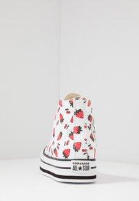 Converse - CHUCK TAYLOR ALL STAR PLATFORM EVA - Sneakers alte - white/garnet - 4