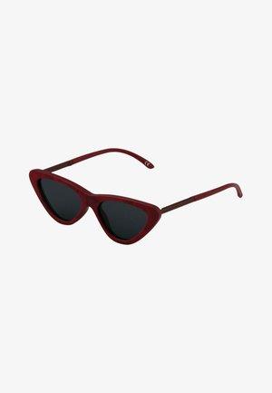 Okulary przeciwsłoneczne - bordowe - vintage