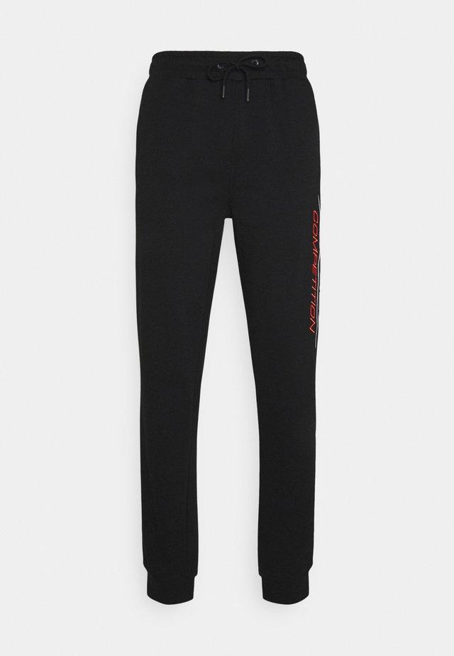 FIN - Teplákové kalhoty - black