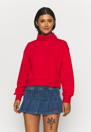 ONLMAGGI  HIGHNECK  - Sweatshirt - urban red