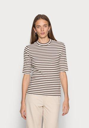 ANNA CREW NECK TEE - Print T-shirt - carafe