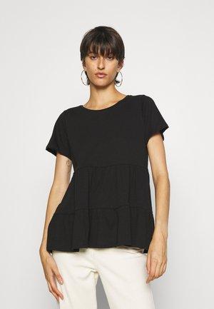 ONLAYCA PEPLUM - Basic T-shirt - black