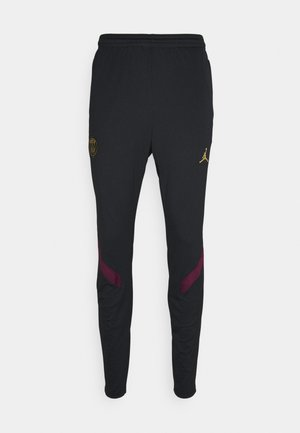 PARIS ST GERMAIN - Tracksuit bottoms - black/bordeaux/truly gold