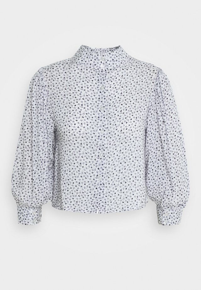 STEPHANIE CLOVER BLOUSE - Button-down blouse - white