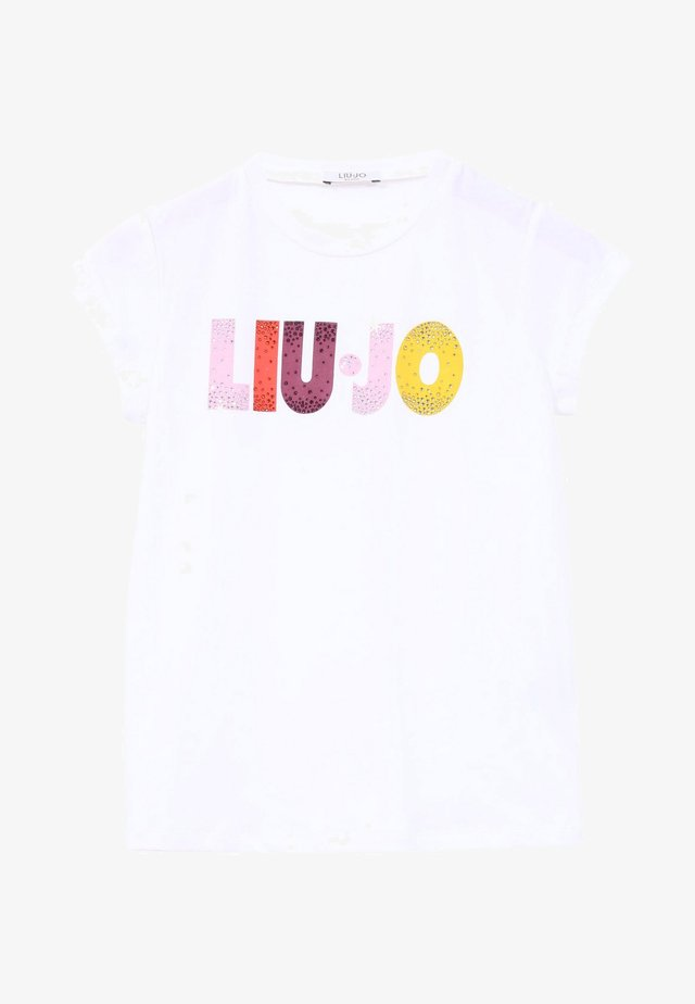 WITH LOGO - T-shirt con stampa - white
