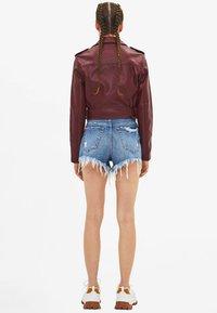 Bershka - Faux leather jacket - bordeaux - 2