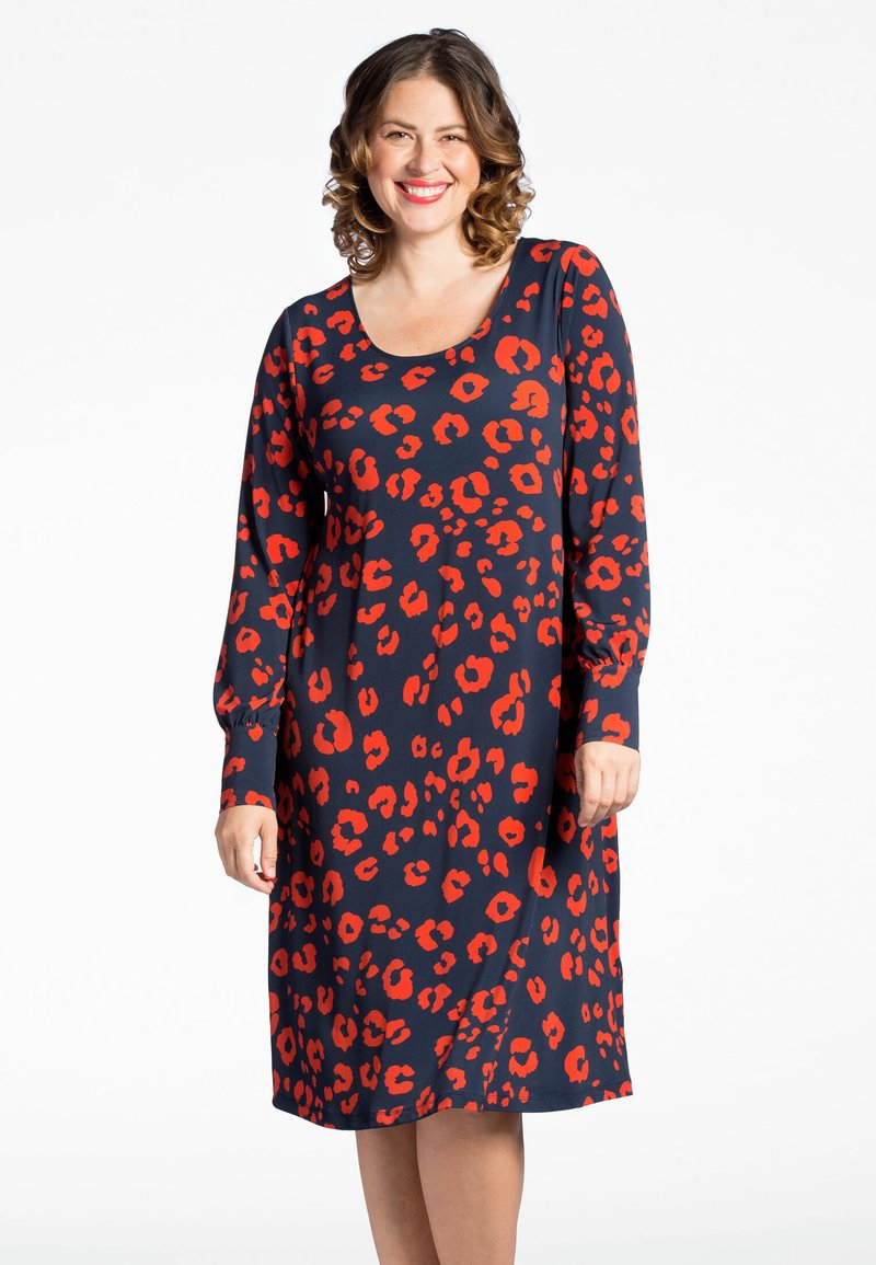 Yoek - Day dress - blue/red