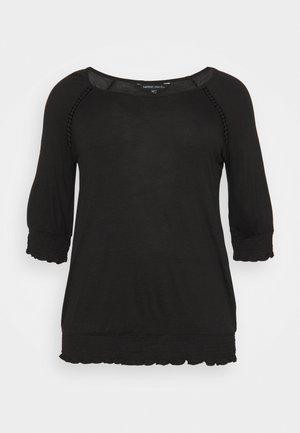 3/4 SLEEVE GYPSY  - Long sleeved top - black