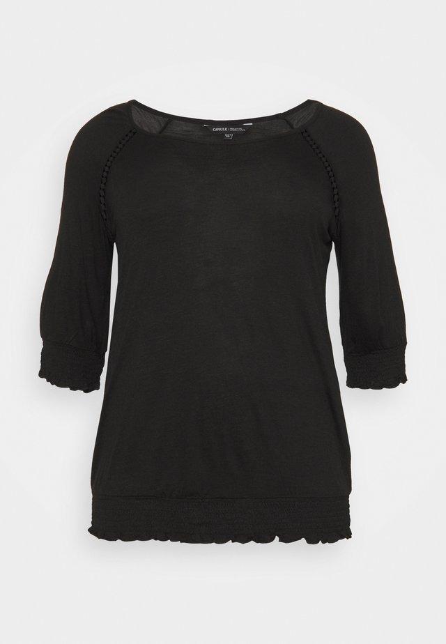 3/4 SLEEVE GYPSY  - Pitkähihainen paita - black
