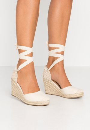 JARDAN TIE UP  - High heeled sandals - stone
