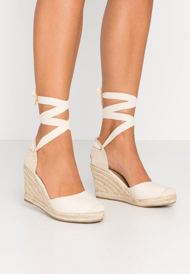 JARDAN TIE UP  - Sandaler med høye hæler - stone