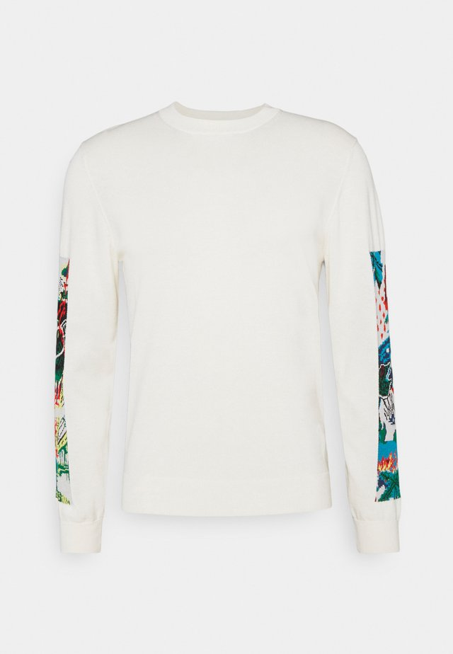 MENS CREW NECK - Pullover - offwhite