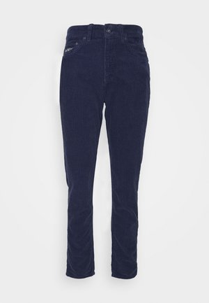 SLIM TROUSERS - Tygbyxor - navy