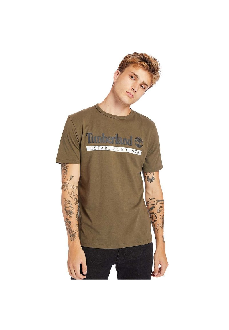 Timberland - Print T-shirt - grape leaf/white