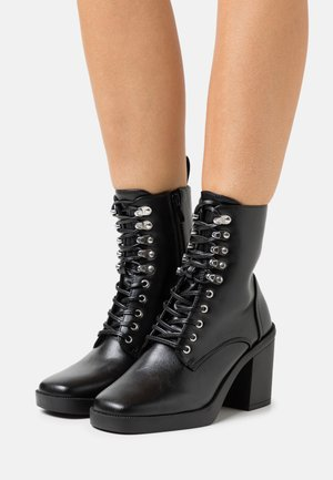 ICONIC - Bottines à lacets - black