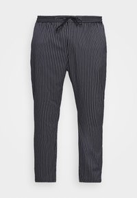 Topman - STRIPE WHYATT - Trousers - dark blue/white - 4