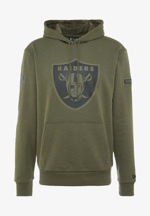 NFL OAKLAND RAIDERS CAMO COLLECTION HOODY - Kapuzenpullover - mottled olive/khaki