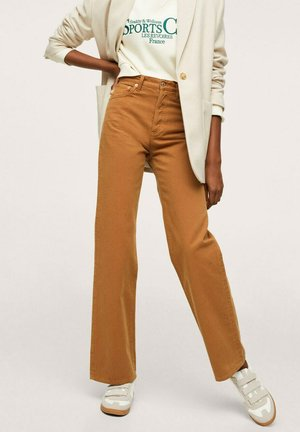 DROIT TAILLE HAUTE - Flared Jeans - caramel