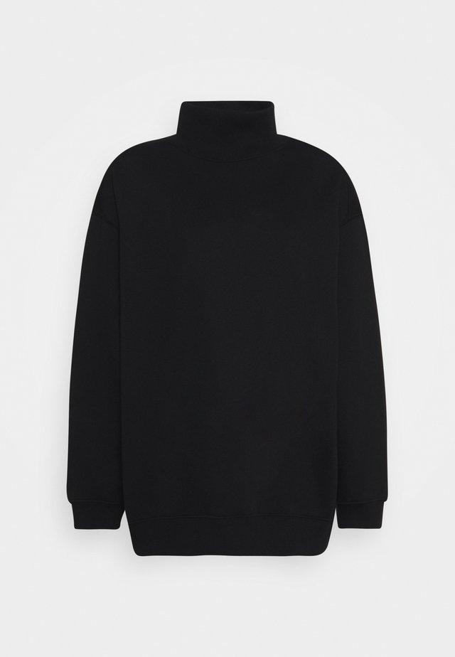 BRUSHED  - veste en sweat zippée - black