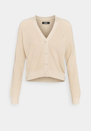 SHORT CARDIGAN - Strikjakke /Cardigans - tan
