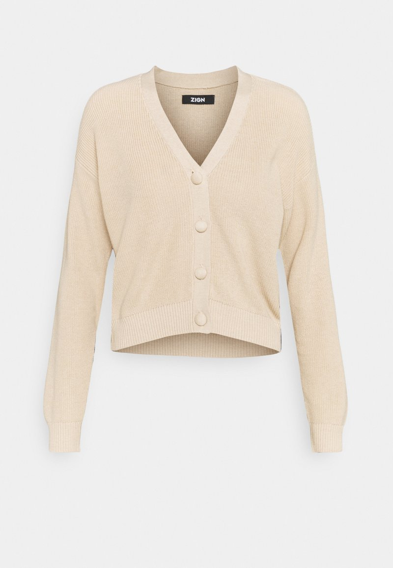 Zign - SHORT CARDIGAN - Cardigan - tan
