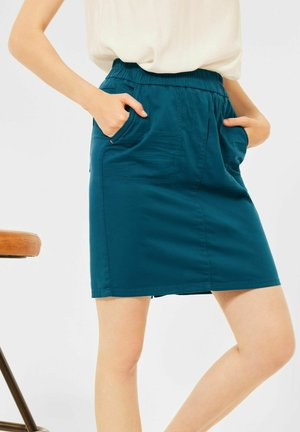 MINI ROCK IN UNIFARBE - Pencil skirt - blau