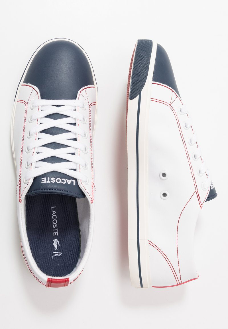 Lacoste - RIBERAC 120 - Sneakers laag - white/navy/red