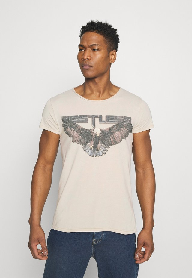 RESTLESS WREN - T-shirt print - vintage light sand