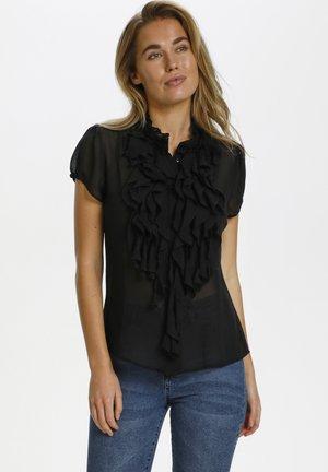 LILLYSZ SS  - Button-down blouse - black
