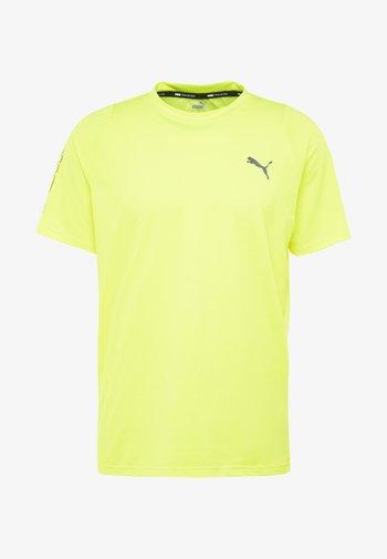 POWER THERMO R+ TEE - T-shirt imprimé - yellow alert