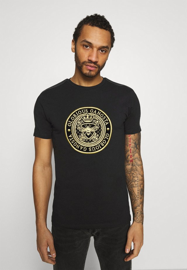 BERTO TEE - T-shirt med print - black