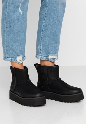 CLASSIC REBEL BIKER MINI - Platform ankle boots - black