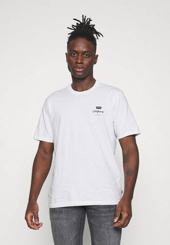 RELAXED FIT TEE UNISEX - T-shirt med print - white