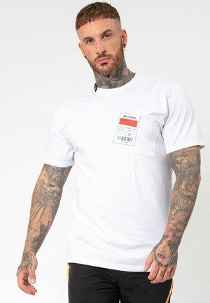 MEMBERS TEE - T-shirt z nadrukiem - white