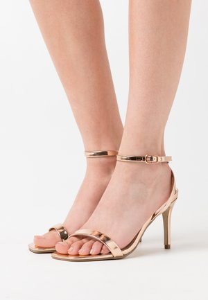 BARELY THERE  - Sandales à talons hauts - rose gold