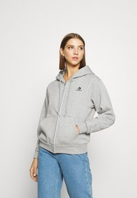 Converse - WOMENS FOUNDATION FULL ZIP HOODIE - Zip-up hoodie - grey - 0