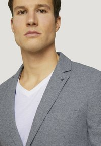 TOM TAILOR - Blazer jacket - grey melange structure - 3