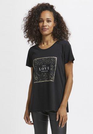 T-shirt print - black deep