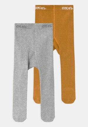 2 PACK UNISEX - Panty - herbstgold/grau