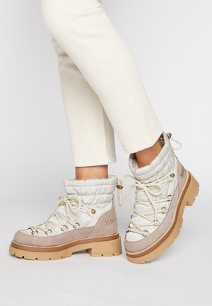 CLAUDY - Lace-up ankle boots - stone