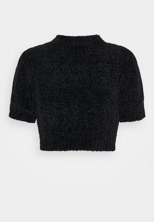 CHENILLE - Basic T-shirt - black