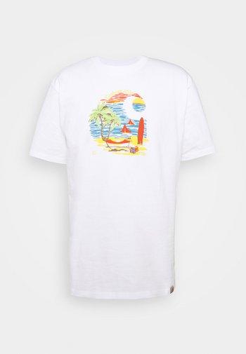 BEACH - Print T-shirt - white