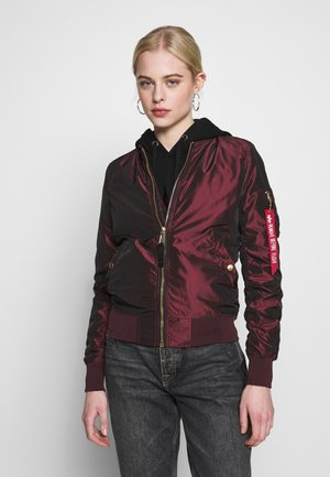 IRIDIUM - Bomber Jacket - bordeaux
