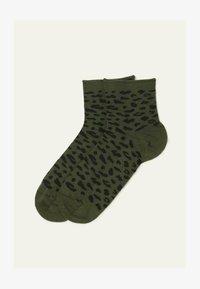 grun army green dappled print