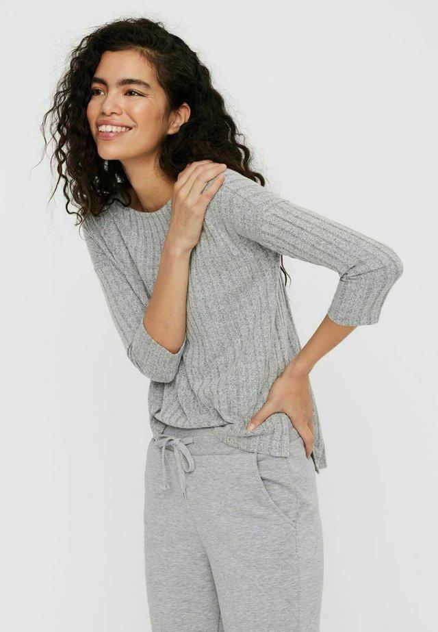 Langarmshirt - light grey melange