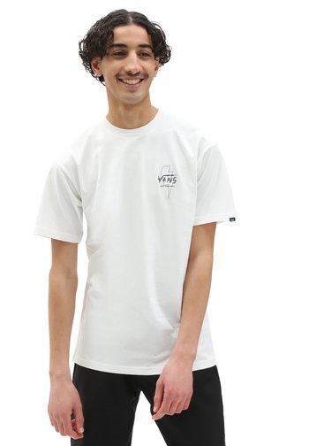MN ELECTROSTATIC OUTLINE S/S ELX - T-shirt med print - marshmallow