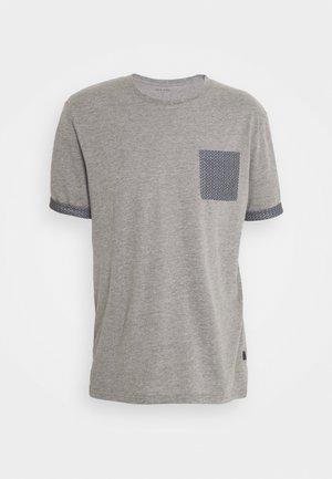 T-shirt med print - mottled grey