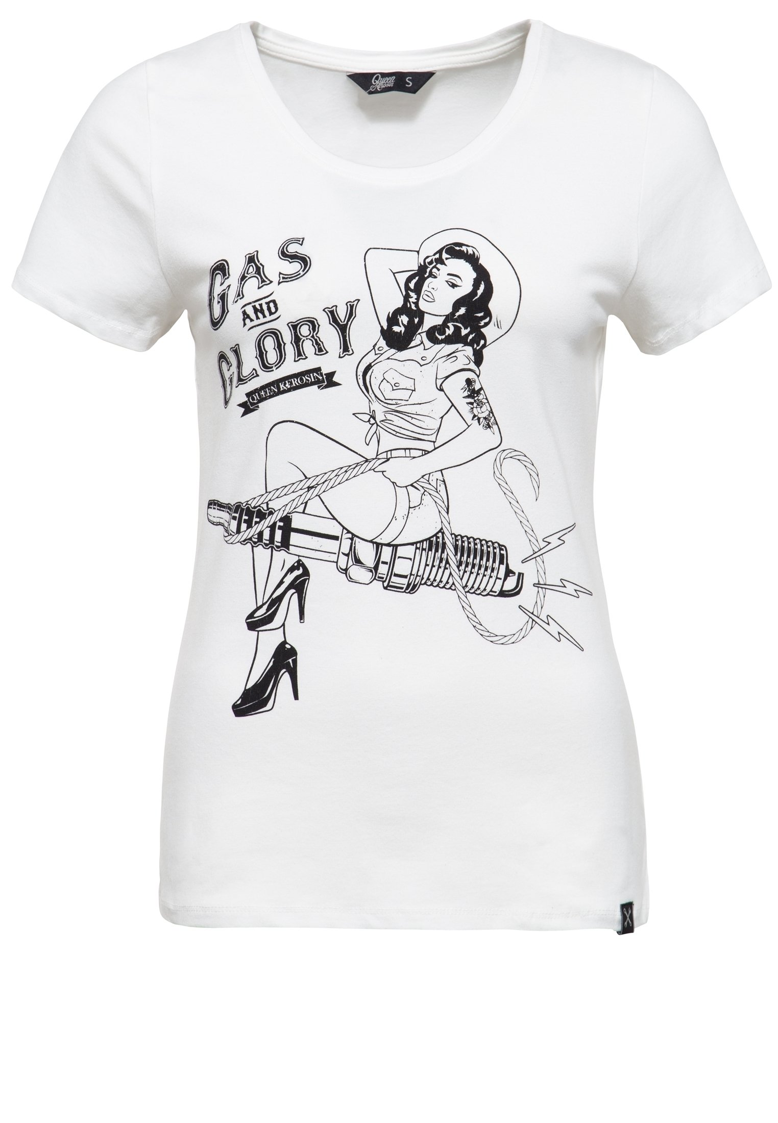 MIT PIN UP T Shirt print offwhite
