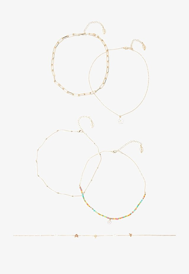 5 PACK - Halsband - gold